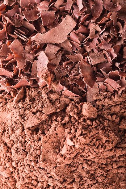 Шоколадная стружка и порошок какао