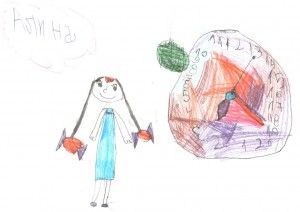Девочка с конфетными бантиками