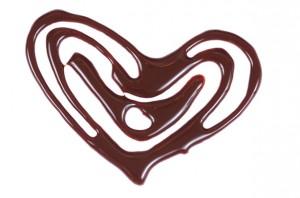 Шоколадное сердце из какао